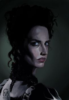 Miss Vanessa Ives caricature (Penny Dreadful) by Miss-Von-Gore