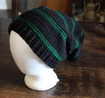 Black and Green Slouch by BlakkFox