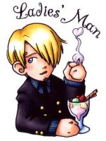 One Piece Fan Badge - Sanji by ScuttlebuttInk