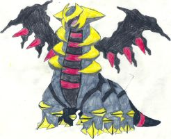 Giratina Altered Form Coloured by CoolMan666