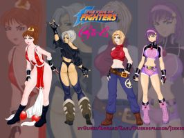 Las Kof Girls by Jinxbh