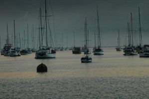 Harbour at Morro Bay, Ca. by friggenyerk