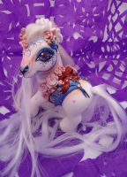 My little pony custom Dia de muertos Dulce by AmbarJulieta