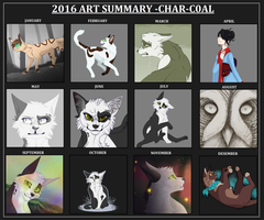 Summary of my art for 2016 by CHAR-C0AL