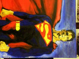 Superman painting by ktnrager