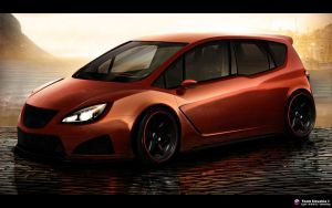 Opel Meriva WTB Front view by CypoDesign