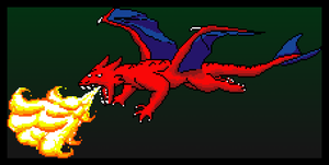 Pixel Dragon by Zanzlanz