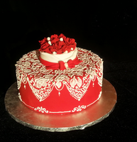 Sweetheart Lace Cake Design by plangkye