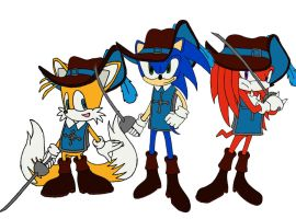 Three Musketeers-Team Sonic by quidditchchick004