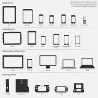 tech devices vectors by Dario1crisafulli
