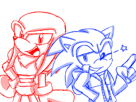 Sonic and Knuckles as the Skele-bros! by NicoleDoodle64