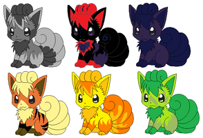 Vulpix Adopts 2 ::CLOSED by DappleFeather