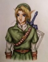 Adult Link from Loz: Ocarina of time by Kastella72