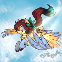 DigiBlue Ponysona Freedom Flight by BlueKazenate