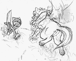 The Battle of Two Beast by FayeleneFyre