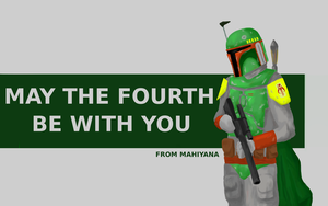 Boba Fett May the 4th Card by MahiyanaCarudla