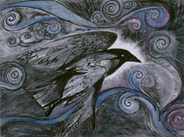 Night Raven by Metzpah