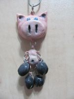 pig necklace by nupharHALL