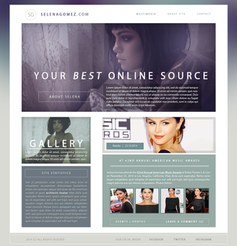 Selena Gomez Layout by sort-of-invisible