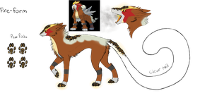 Fire-Form Dereon-Entei (Closed) by dragons011