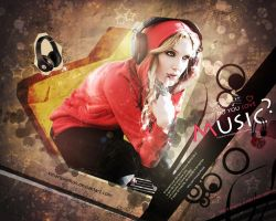 Woman Music Wallpaper by xMarquinhos