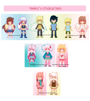 My main charas {CONTEST ATTACHED} by NekoKisshuLover