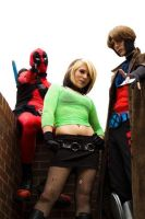 Evolution Rogue, Gambit and Deadpool by bumper337