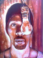 Rza portrait by WestCoastPainter