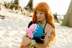 Nami smiles with Chopper, One Piece Cosplay by firecloak