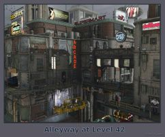 Alleyway at Level 42 by thd777