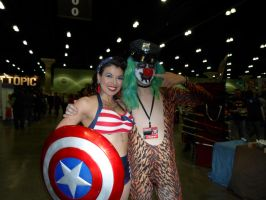 Dr Rockzo and Miss Pin up  America  (Comikaze) by DelphiniumFleur
