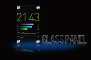 Glass Panel for XWidget by boyzonet