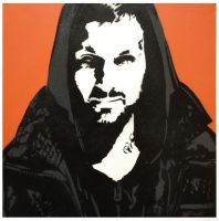 Dynamo Magician Spray paint Stencil on Canvas. by dannyboib