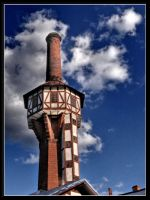 Water tower with the chimney by Yancis
