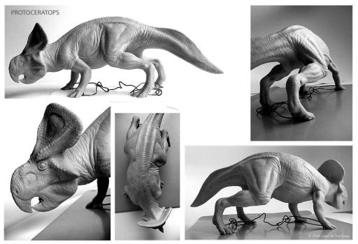 Protoceratops Sculpture by Red-Dilopho