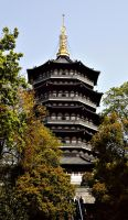 Real Leifeng pagoda by Lai-Wei