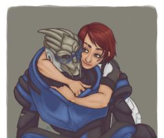 Shepard x Garrus by Tell-Me-Lies