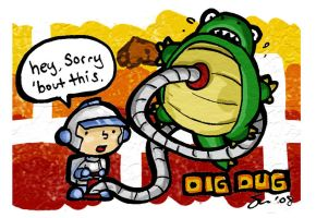 Dig Dug is Sorry by soks2626