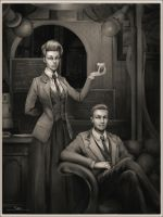 Rosalind and Robert Lutece by DarrenGeers