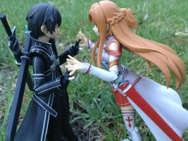 kirito and asuna by RainfallClan