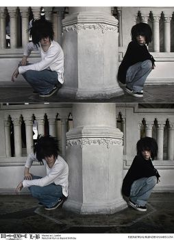 Death Note Cosplay : BB + L : Got My Eye On You by Redustrial-Ruin