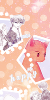 When you smiled (bookmark). by daydreaam