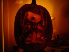 Adam Lambert Pumpkin by TheSwedishJoker