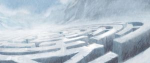 Snowy Mountain Maze by Milkmom
