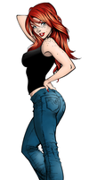 Mary Jane Watson - shaded version by Nassia