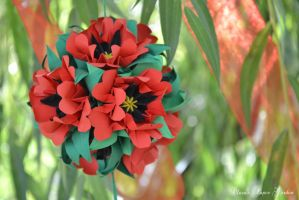 Poppies kusudama by cridiana