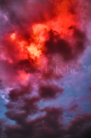 S T O C K ~ Fantasy red dark Sky by AStoKo