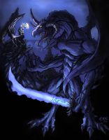demon vs borak by thevampiredio