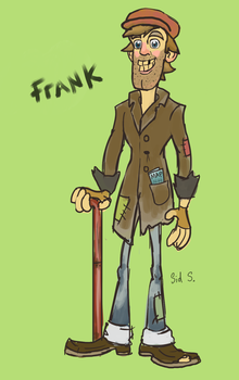 Frank the Traveling Hobo by VectorTheCrocodille