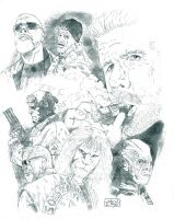Ron Perlman commission by StevenWilcox